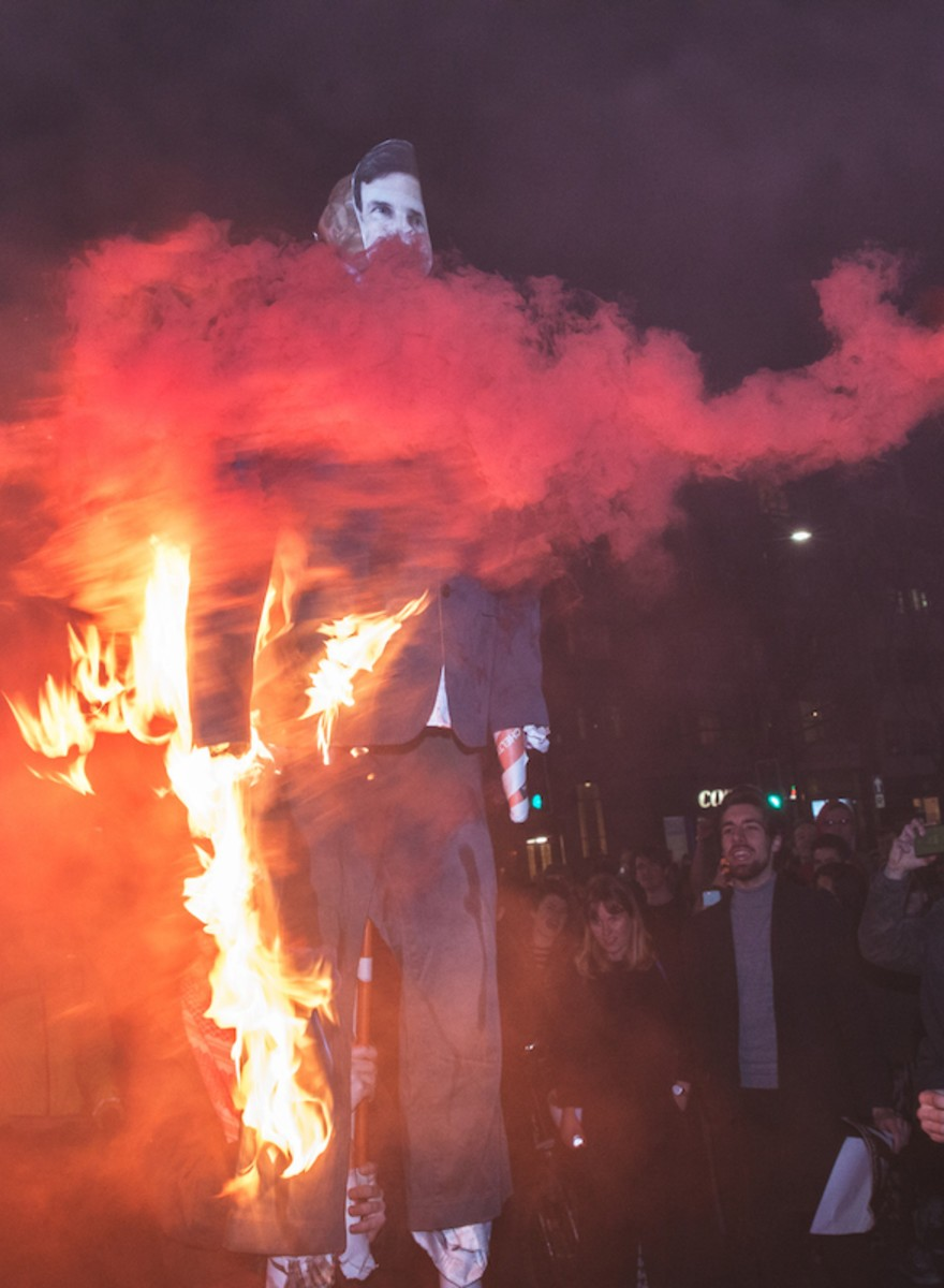 Students Set Stuff on Fire to Protest London's High Rent