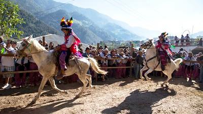 Guatemala's Drunken Horse Race
