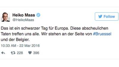 Die Reaktionen deutscher Politiker auf den Terror in Brüssel
