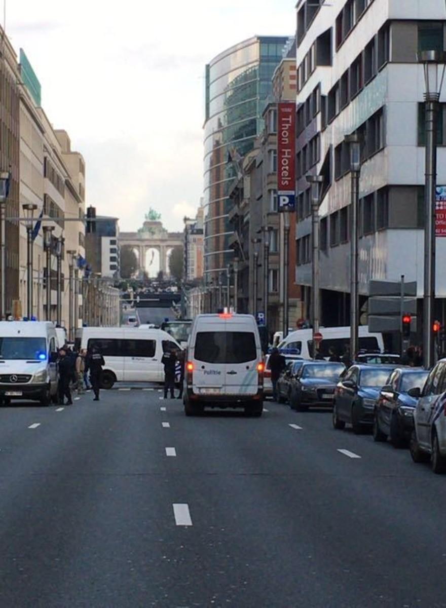 Foto's van de nasleep van de aanslagen in Brussel