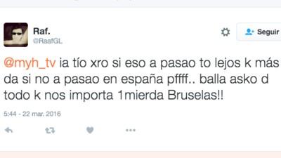 Las reacciones más estúpidas de los españoles a los atentados de Bruselas