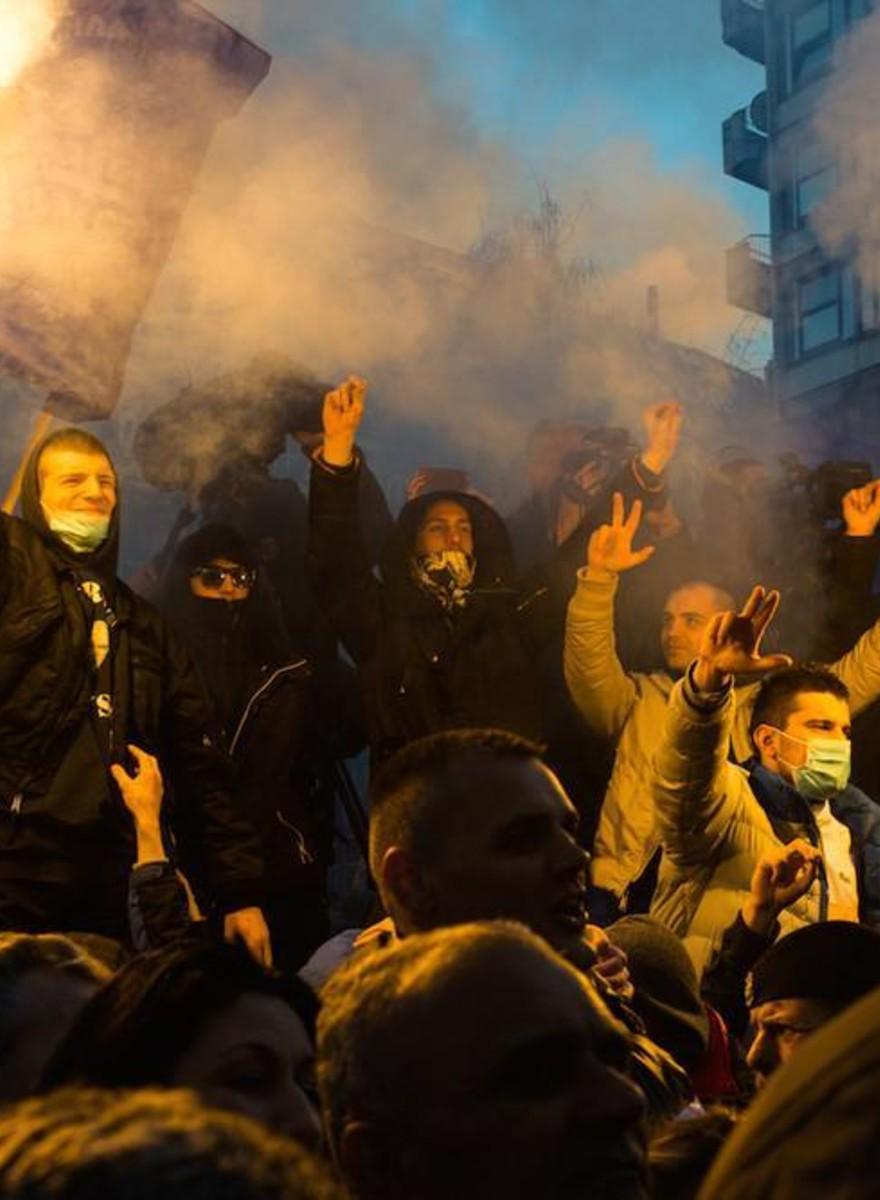 Right-Wing Serbians Protested Convicted Genocidist Radovan Karadžić's Prison Sentence