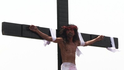De kruisiging van Jezus op de Filipijnen