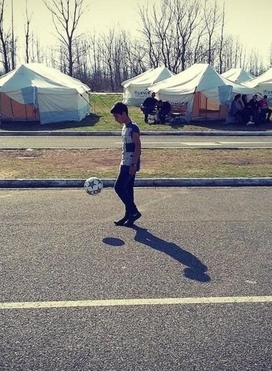 Die Flüchtlingskicker des FC Idomeni