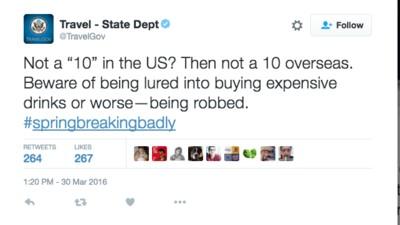 US-Außenministerium macht sich mit bizarrer Reisewarnung zum Gespött des Internets
