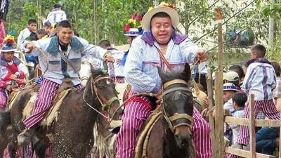 Bourré comme un cavalier du Guatemala