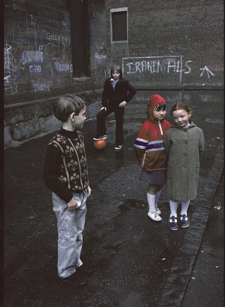 Foto's van de achterbuurten van Glasgow in de jaren tachtig