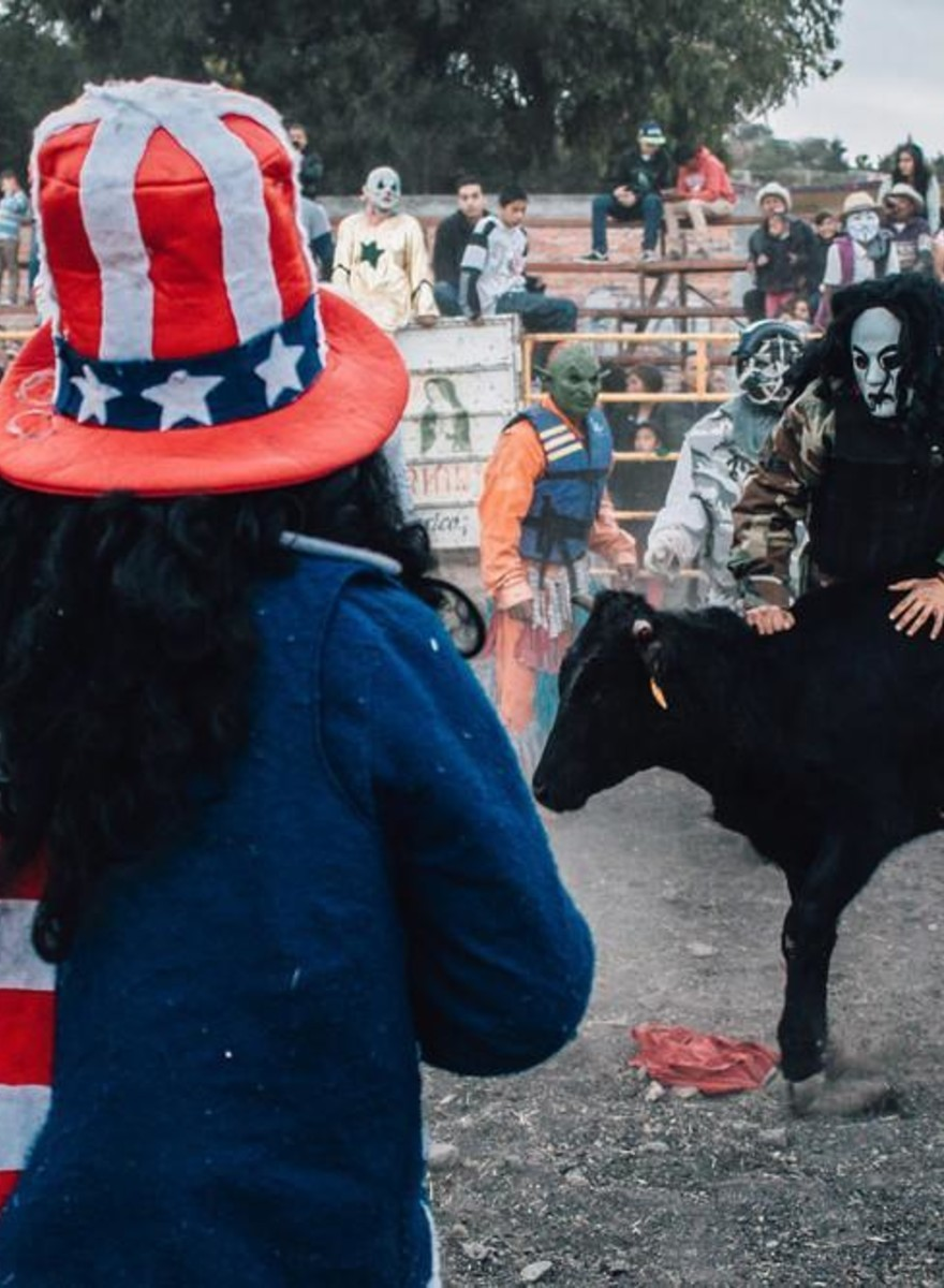 Incredible Photos of Kiss, Orks, and Uncle Sam Fighting Cows in Mexico