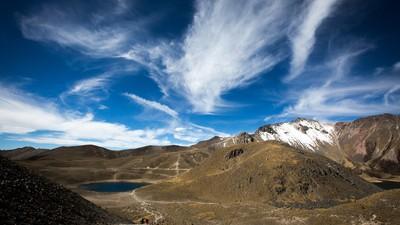 Subí al Nevado de Toluca para ver una proyección al aire libre