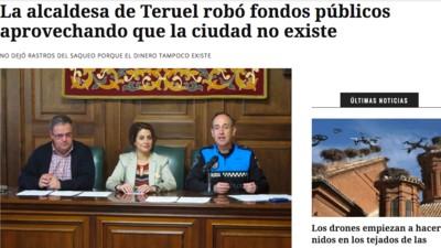 El Ayuntamiento de Teruel y su pataleta contra El Mundo Today