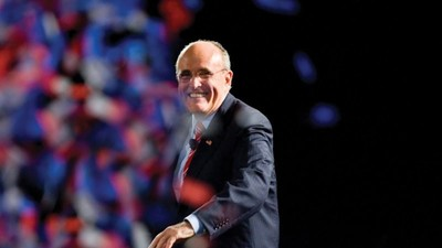 Rudy Giuliani Says He'll Vote for Donald Trump in the New York Primary