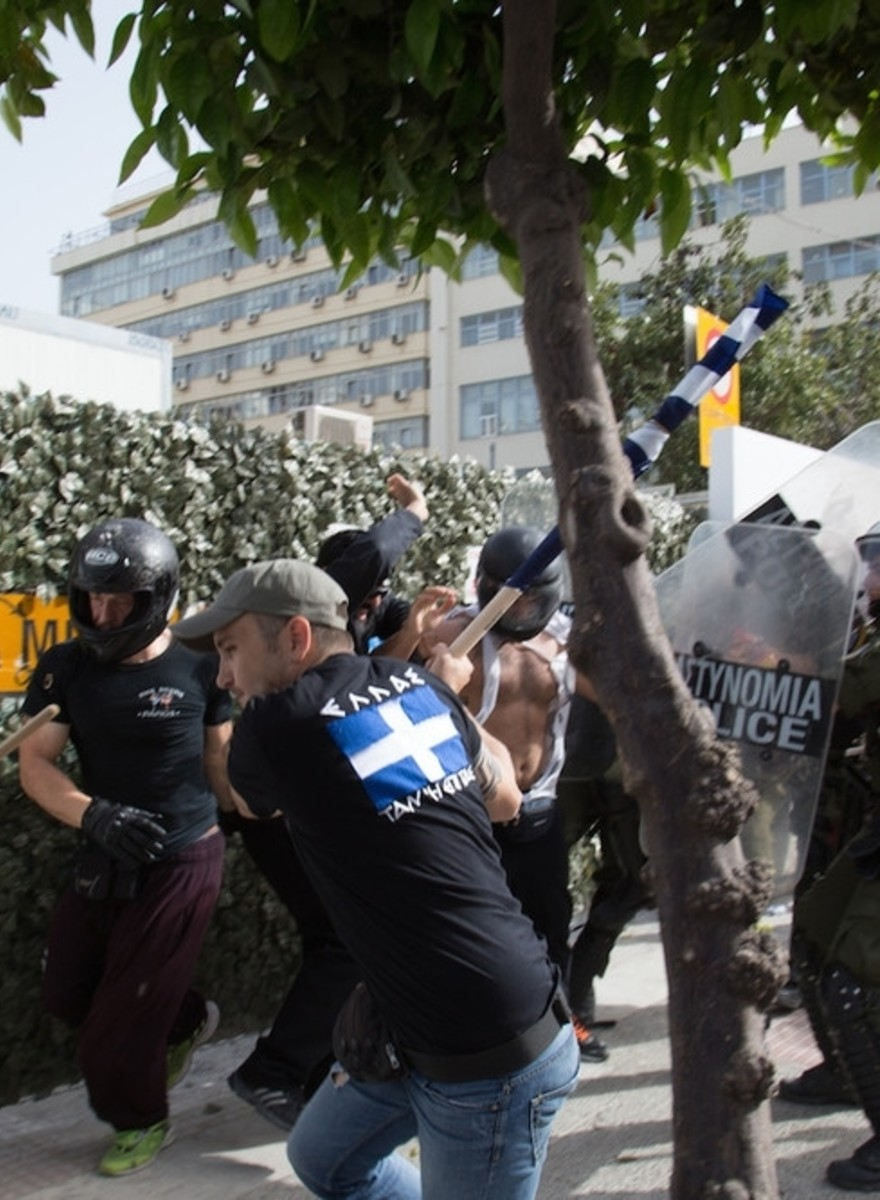 Journalists Aren't Safe from the Flying Fists of Greece's Fascists