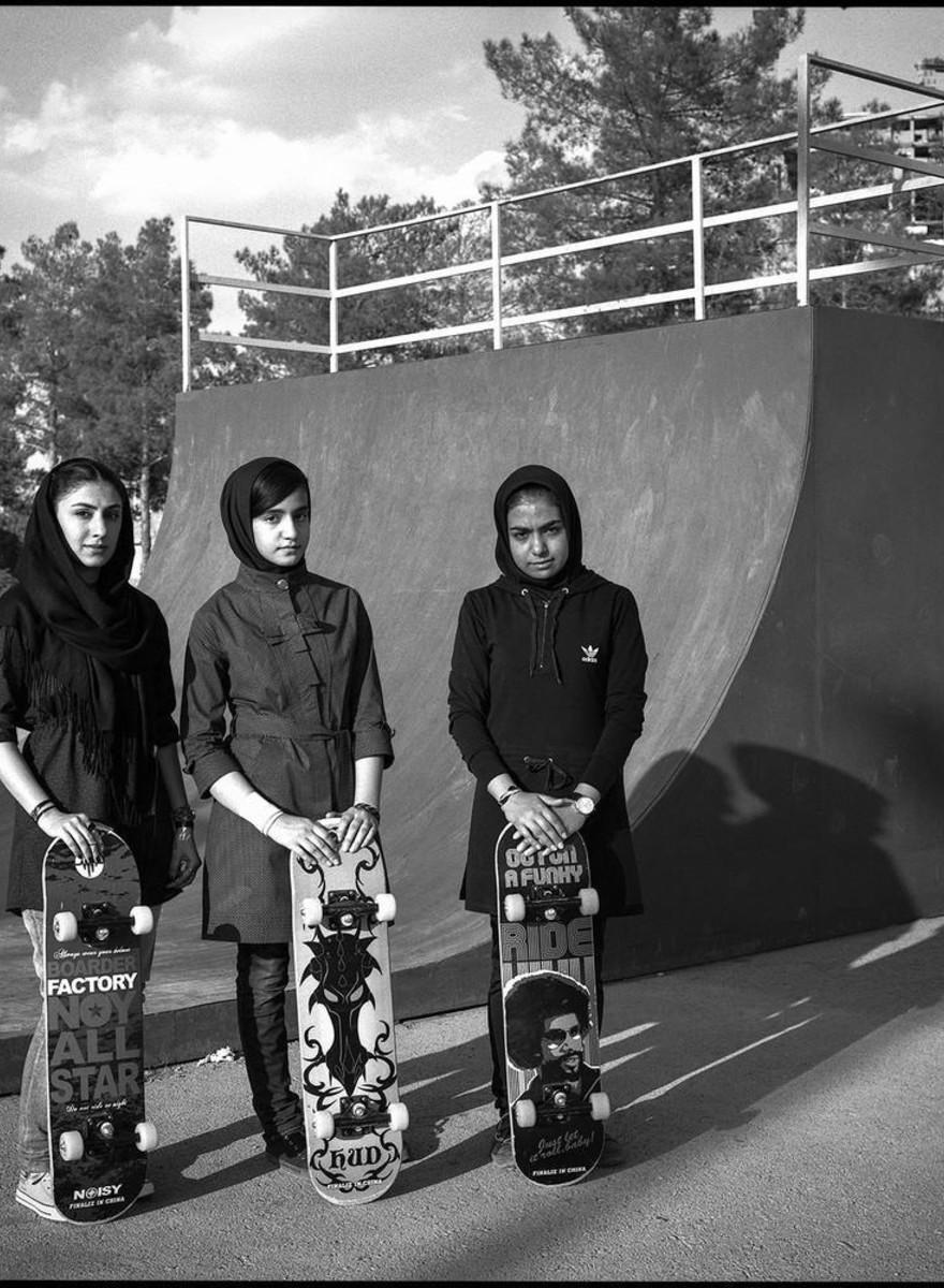 Foto's van de groeiende skatescene in Iran