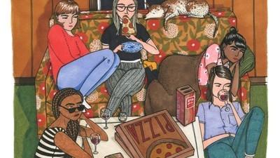 Ilustraciones que descubren lo que hacen las mujeres cuando nadie las observa