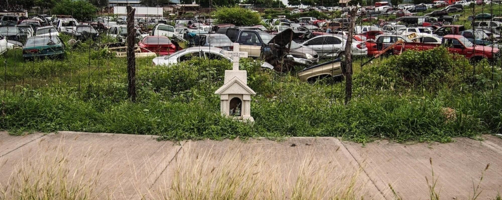 Fotos de las cruces en Culiacán