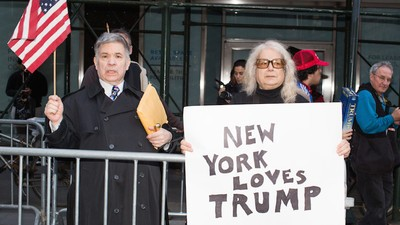 Chaos and 'New York Values' at Manhattan's Donald Trump Protest