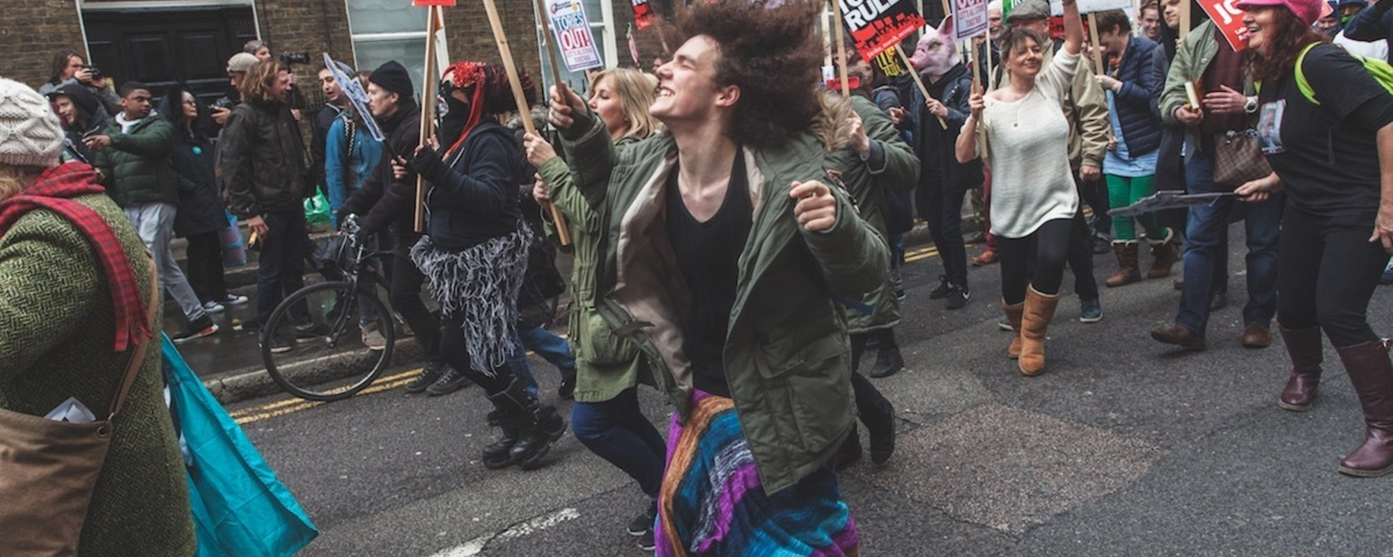 'Fuck Financial Terrorists': Photos from London's Fiery Anti-Austerity March