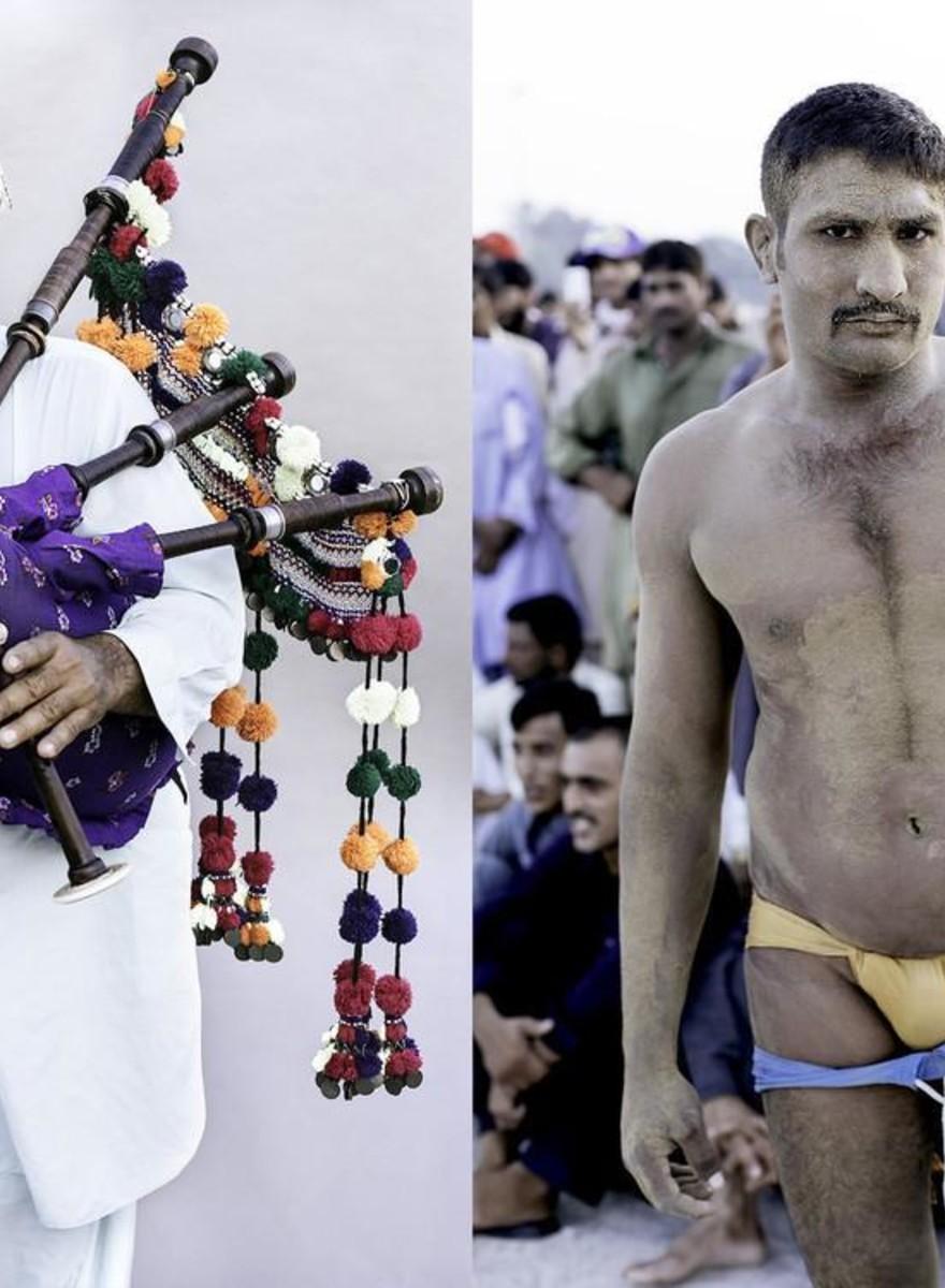 Fotografii cu meciurile de wrestling în nisip din Dubai