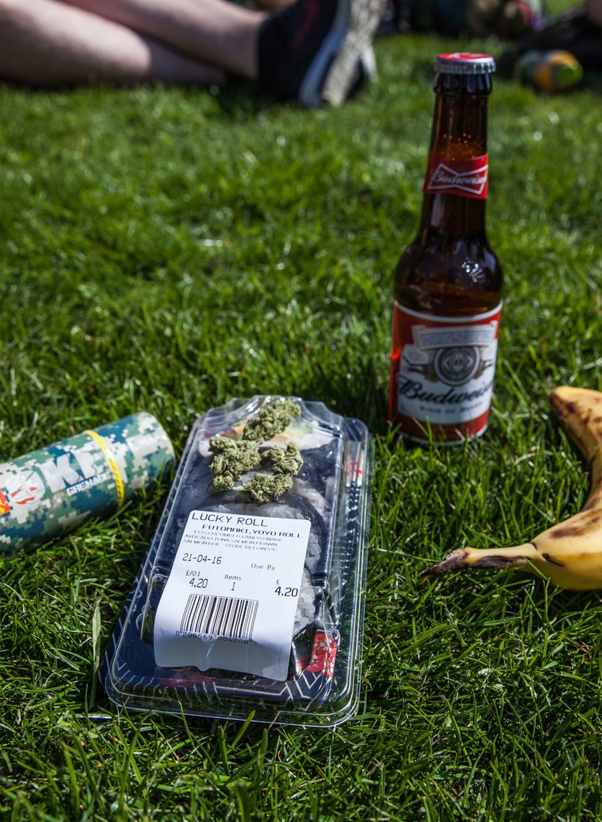 Stoners at London's 4/20 Rally Show Us What They Brought to Eat