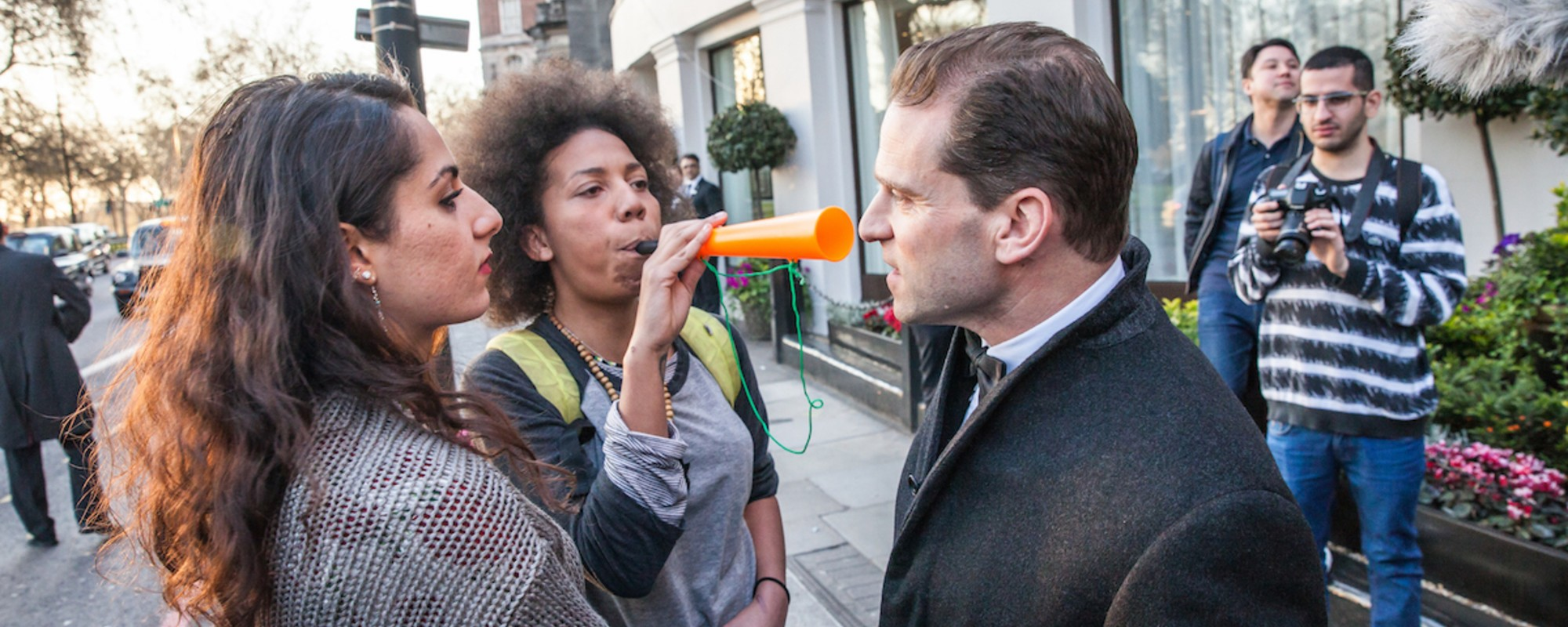 Photos of Activists Heckling a Swanky Property Industry Awards Ceremony