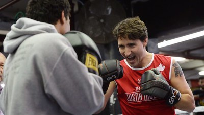 It's Still Too Early to Complain About Trudeau's Photo Ops Because Oh My God, Those Biceps