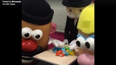 You'll Never Look at Mr. Potatohead the Same After Watching Him Play Hungry Hungry Hippos