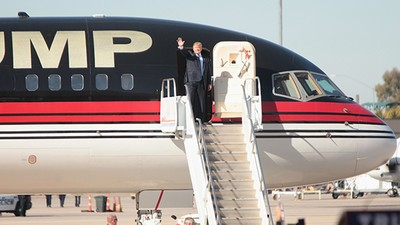 Trump Can't Fly His Private Jet Anymore Because He Didn't Pay the $5 Registration