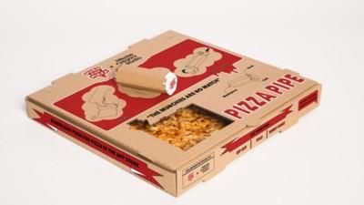 La caja de pizza que se convierte en pipa