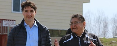 Justin Trudeau Welcomed By Crowd as He Touches Down on Isolated Indigenous Reserve