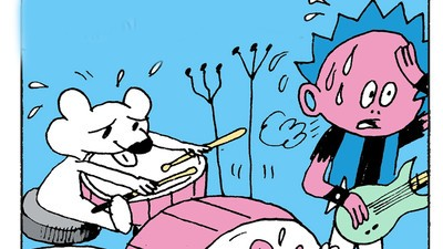 Phil, His Stoat, and a Rat Perform a Punk Song in Today's Comic by Jim Pluk