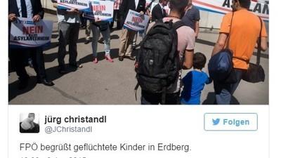 """Strache gesteht """"unwahre Behauptung"""" über das angeblich inszenierte Asylprotest-Foto ein"""