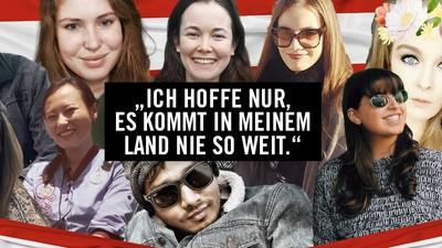 Das denken junge Leute aus aller Welt über die österreichische Politik
