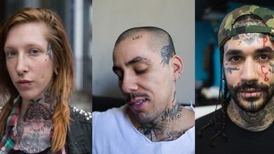 Pessoas com tatuagens no rosto explicam seus desenhos