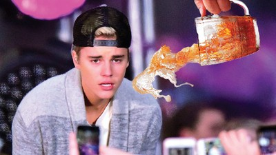 Justin Bieber Allegedly Smashed a Guy's iPhone for Filming Him Choke on a Beer Bong