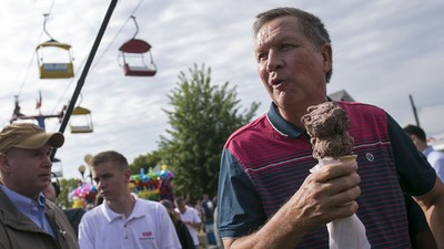 How John Kasich Tried to Eat His Way into the White House