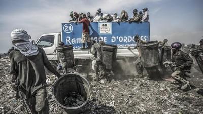 Fotos de la vida en un basurero haitiano