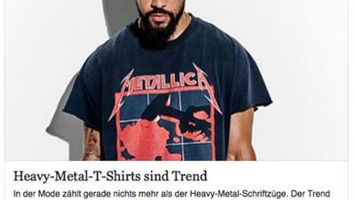 Freu dich schwarz! Mit deinem Slayer-Shirt liegst du voll im Trend