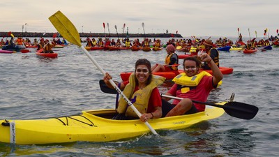 Protesters in Kayaks Shut Down the World's Largest Coal Port This Weekend