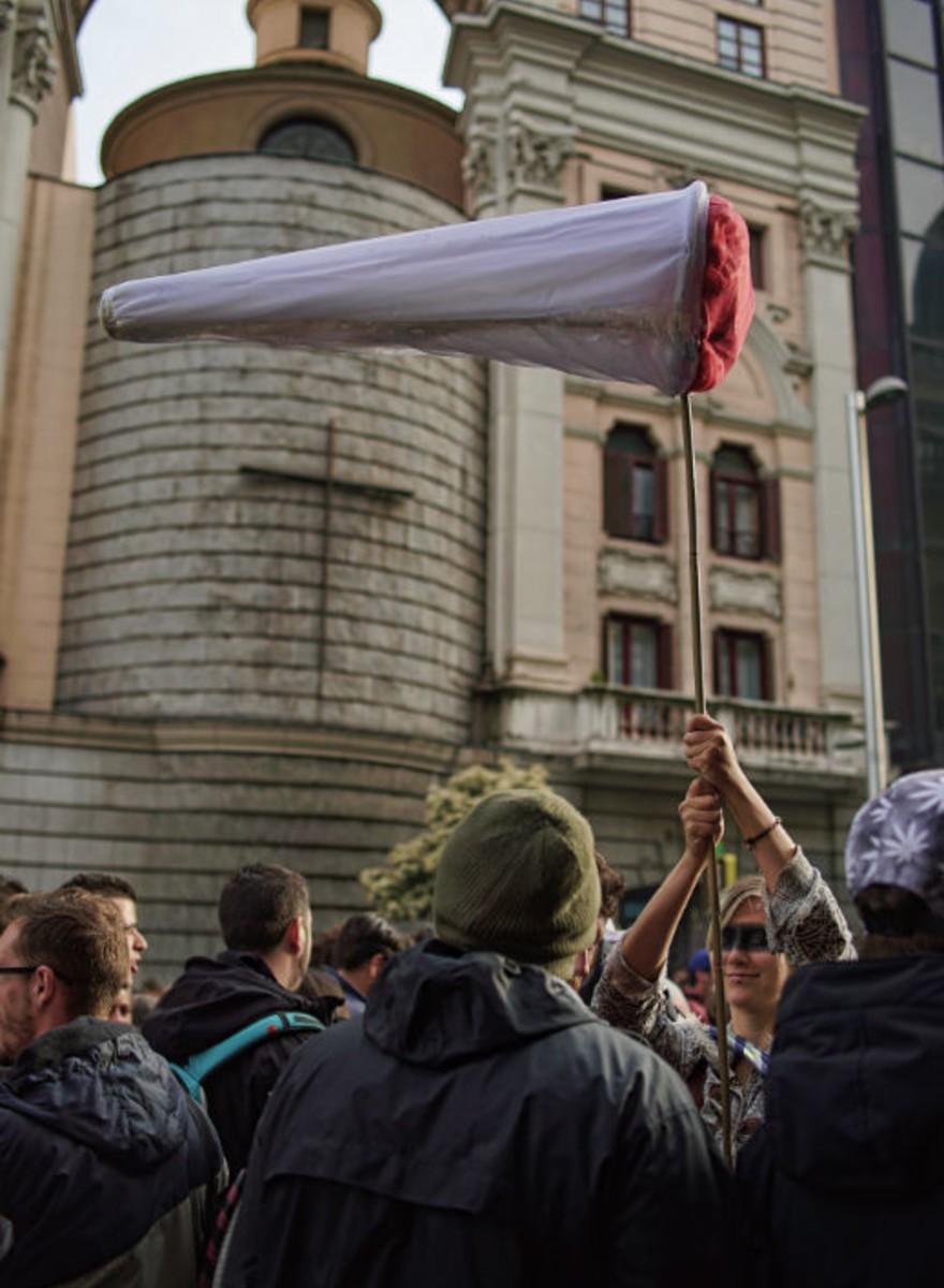 Así fue la Marcha Mundial por la Marihuana en Madrid