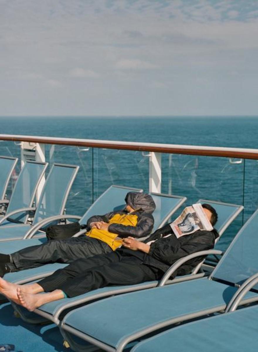 Even lekker ertussenuit op een Chinees cruiseschip