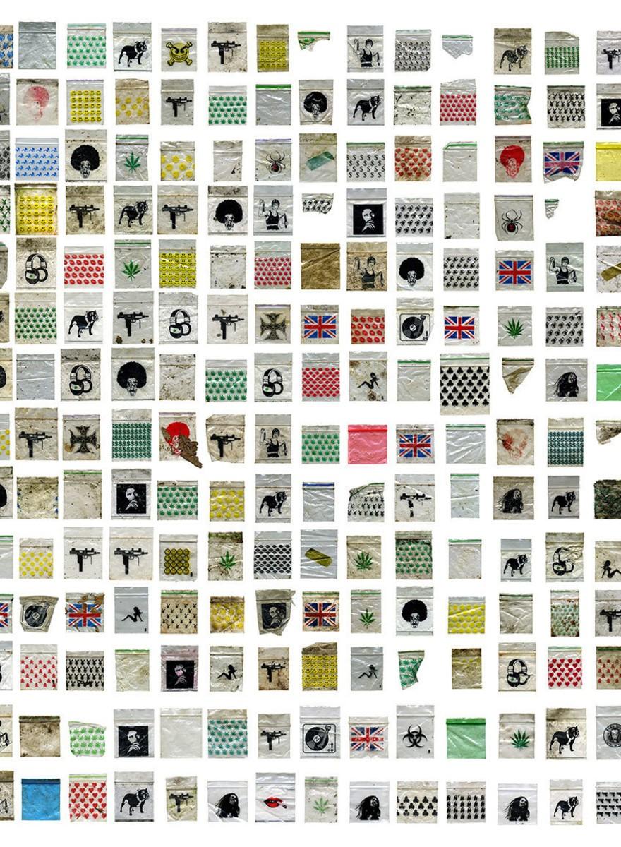 Die größte Sammlung von Drogenbeutelchen aller Zeiten