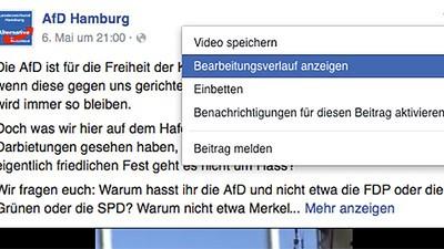 Lügen-Facebook: AfD ändert Post neun Mal und entlarvt die eigene Scheinheiligkeit