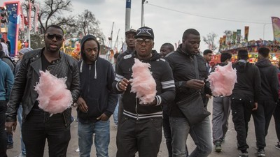Photos of Cotton Candy and Decay at a French Carnival