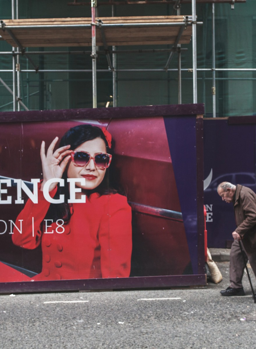 Photos of the Creepy 'Aspirational' Hoardings that Surround New Builds