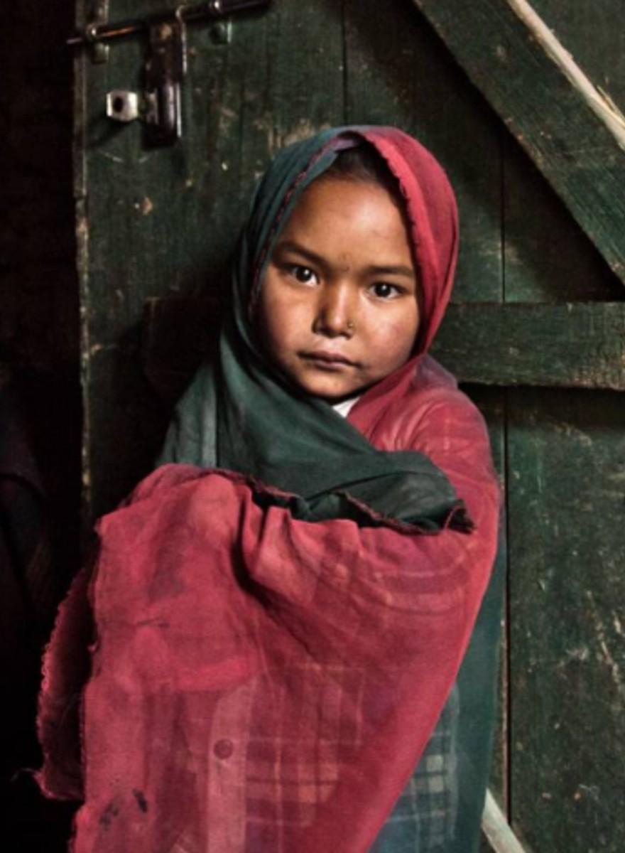 Foto's van Nepalese vrouwen in ballingschap tijdens hun menstruatieperiode