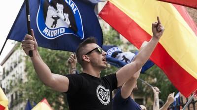 Desfile fascista en Madrid: así fue la manifestación del Hogar Social Madrid