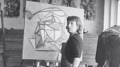"""Lee Krasner: la artista relegada a ser """"la mujer de Jackson Pollock"""""""