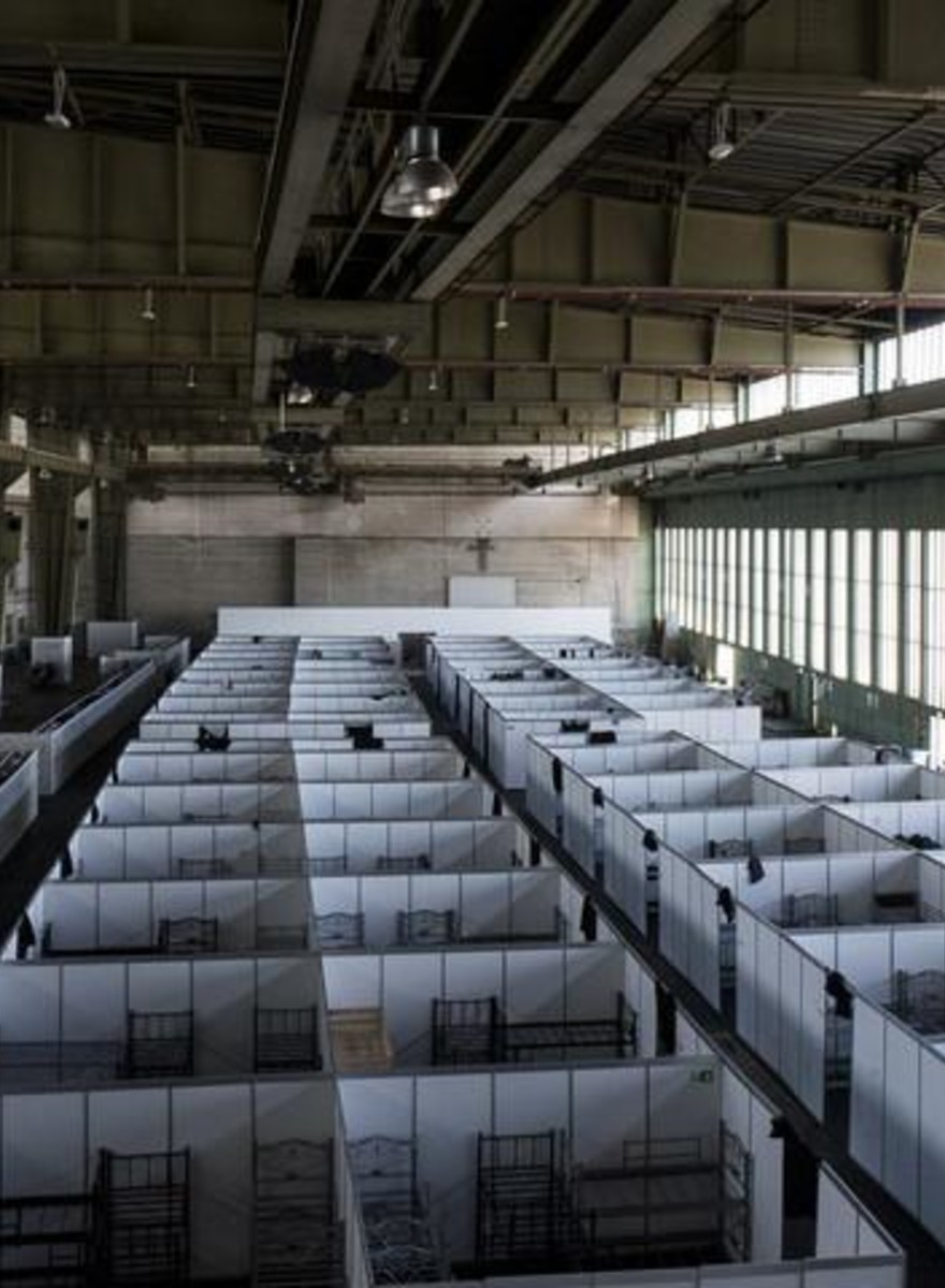 Inside Tempelhof Airport in Berlin, Which Now Houses 1300 Refugees