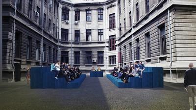 Cum se transformă campusul Universității București într-un spațiu de relaxare între cursuri
