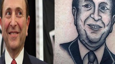 Hockey Fan Gets Gary Bettman's Face Tattooed on His Ass